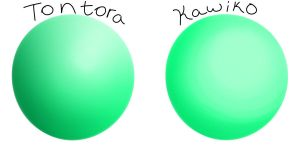 The shading difference by Tontora
