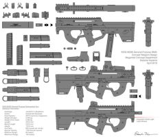 M290 Submachine Gun Concept by daisukekazama