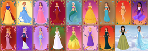 Sonic Girls as Disney Princesses and Heroines by donamorteboo
