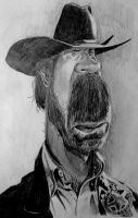 Chuck Norris caricature - SPEED DRAWING ITALIA by Speeddrawingitalia