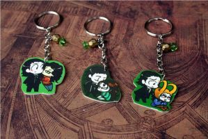 Loki and Darcy Chibi Couples Key Chains by KouranKiyo
