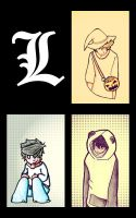 My drawings of L by Nachita99