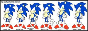 Various Sonic Styles by Kawaii-Sonic
