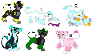 Free Lion Cub Adopts 3- GONE by sam-speed