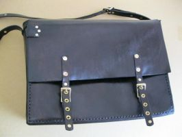 Leather Messenger Bag by passbyguy