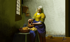The Milkmaid 3D by Lucsdf