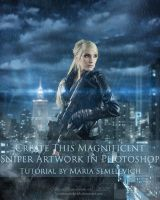 Create Magnificent Sniper Artwork in Photoshop by MariaSemelevich