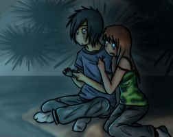 A and M Playing Video-Games by Juriia
