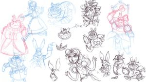 Alice Bunch O doodles by NicParris