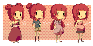 The Many Outfits Of by vanilla-beanie