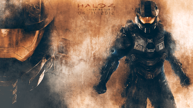 HALO 4 - THE CHIEF RETURNS - WALLPAPER by JSWoodhams
