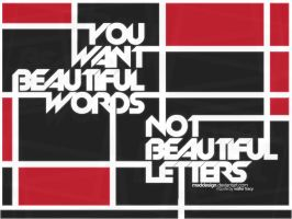 Beautiful Words by MadDesign