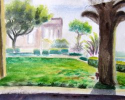 Huntington Park water color study by xensoldier
