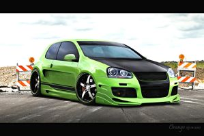 VW Golf Green by orangenes