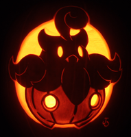 Pumpkaboo on a Pumpkin by johwee