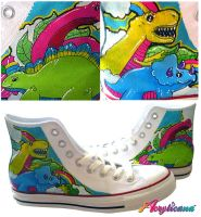 Dino Shoes by marywinkler
