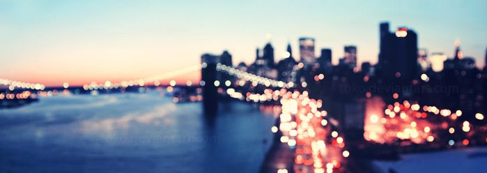 new york bokeh skyline by toko
