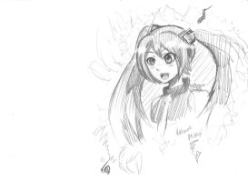 Hatsune Miku :Sketch: by spenzbowart