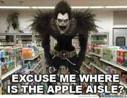 Ryuuk Is Buying Apples!?! by KakashiXIrukaLover14