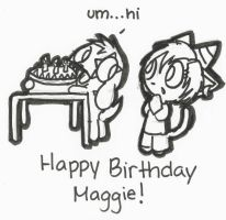 Happy Birthday Maggie :3 by Sylladexter