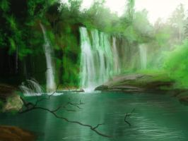 waterfall speed by Senshisoldier