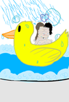 Morning Bathtime (on a ducky) by JZSlicer
