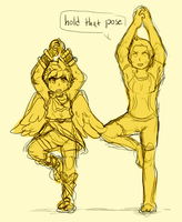yoga by sweating