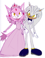 Blaze with her Prince-consort by theOrangeSunflower