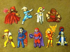 Perler Bead: X-Men foes by thewiredslain