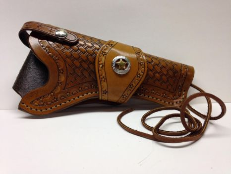 Handtooled holster  by Jleather