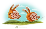 Daily Paint #1240. Cinnamon Bunnies by Cryptid-Creations