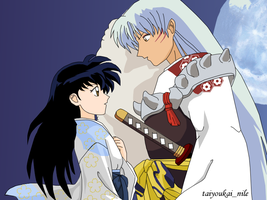 Sesshoumaru and Kagome by blondishnet