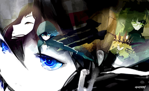 Black Rock Shooter - Vector Wall by elclon