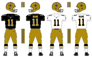 Nike Elite 51 Saints Uniform with Striped Socks by SimplyMoono