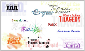Green Day lyric brushes. by SparklingDragonTears