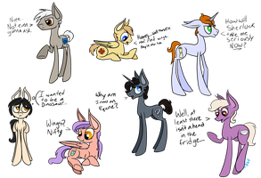 BBC Sherlock Ponies by Winter-Hooves