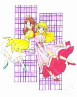 peach and daisy by yuina19
