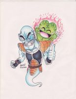 Ghost nappa and vegeta juinor by megadrivesonic