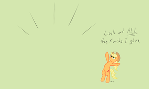 Applejack doesn't give a buck by MR-1
