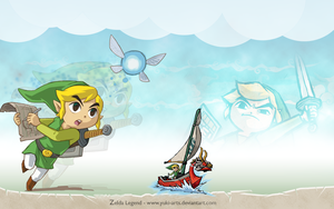 Zelda Legend : Link Wallpaper by yuki-arts