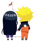 NaruHina : Hold Your Hand Colored by Singgih17mei