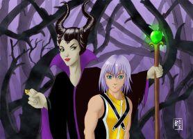 Maleficent and Riku final by DL2003