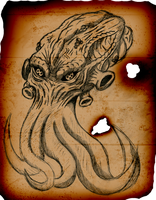 Necronomicon Page Great Cthulhu by FOE-Studios