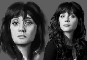Zooey Deschanel DSC wip by Vimes-DA
