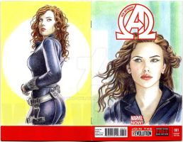 BlackWidow sketch cover by whu-wei