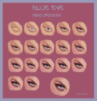 blue eye _ some steps by Velvetta
