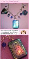 Large charm necklace by fairy-cakes