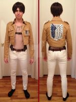 Attack on Titan Eren Progress 3 by FluxTideDesigns
