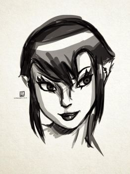 Sketch: Karai! c= by KatanaBerry