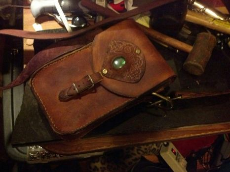 Leather bag by TwitchNothing